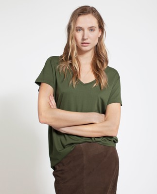 Becka V-neck Tee, Green