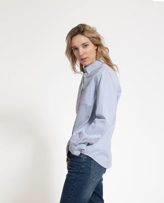 Sarah Oxford Shirt, Classic Blue/White