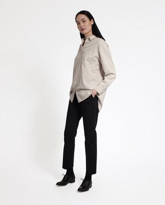 Isa Flannel Shirt, Beige