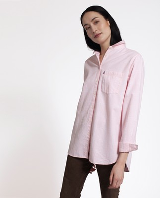 Isa Flannel Shirt, Pink/White