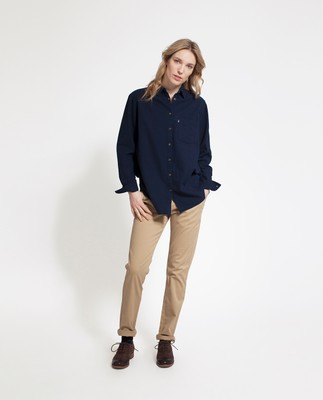 Isa Flannel Shirt, Deepest Blue