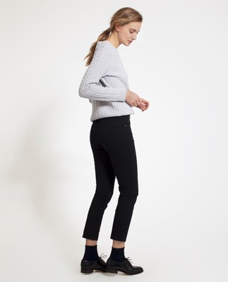 Zoe Solid Pants, Caviar Black