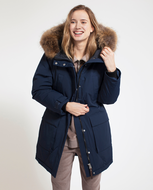 Pauline Down Coat, Deepest Blue