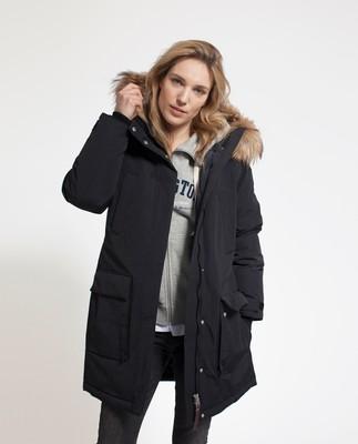 Pauline Down Coat, Caviar Black