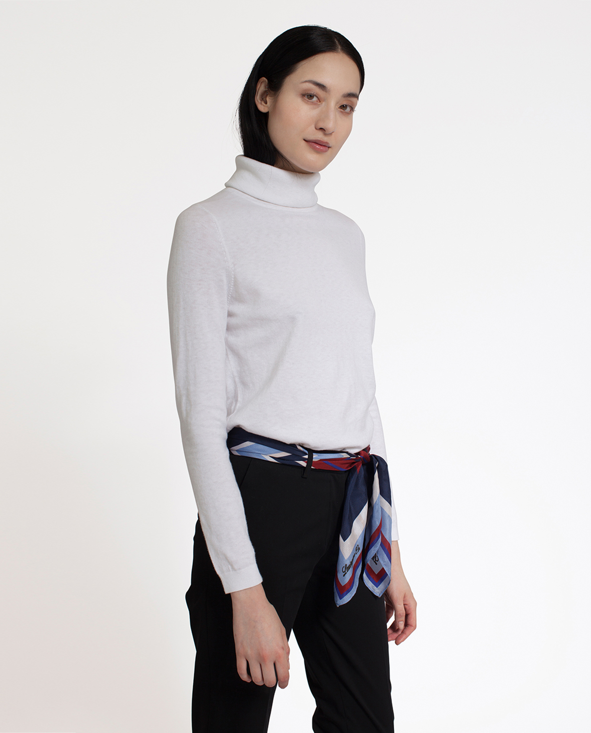 Francoise Roll Neck Sweater, Snow White