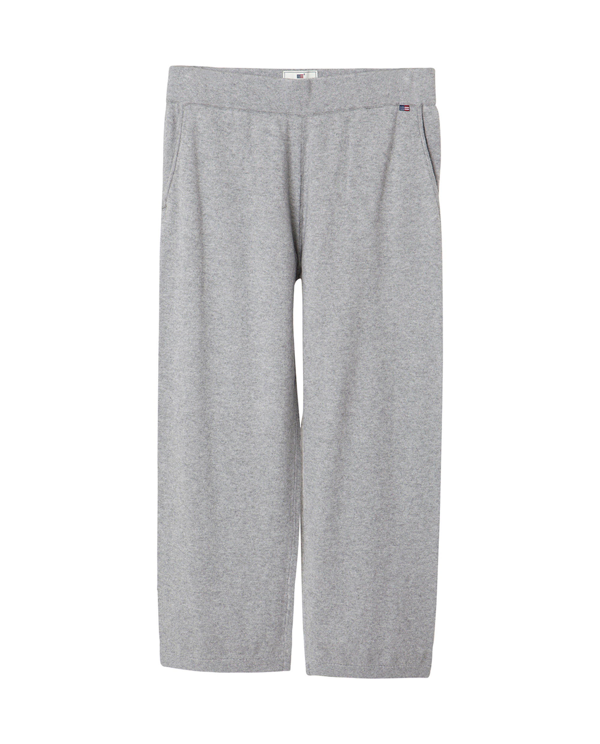 Des Knitted Cotton/Cashmere Track Pants, Light Warm Gray