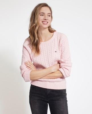 Felizia Cable Sweater, Pink