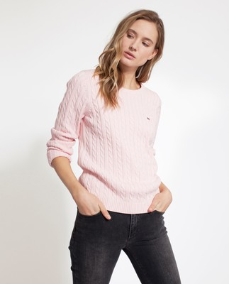 Felizia Cable Sweater, Pink