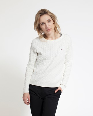 Felizia Cable Sweater, Snow White