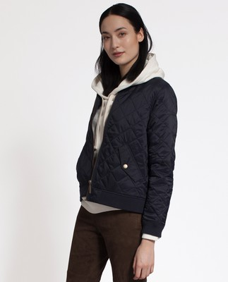 Greta Quilted Jacket, Deep Marine Blue