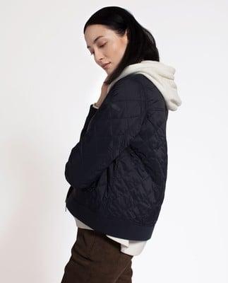 Greta Quilted Jacket, Deep Marine Blue