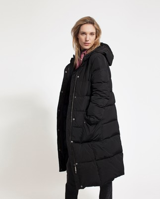 Alma Down Coat, Caviar Black