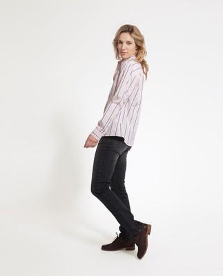 Emily Poplin Shirt, Pink/White