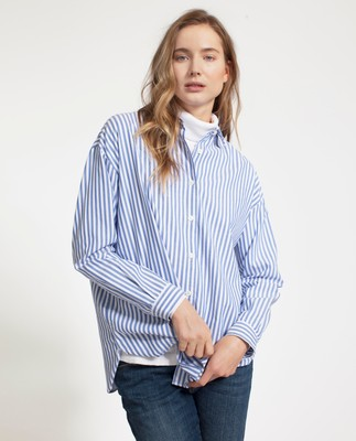 Edith Light Oxford Shirt, Blue/White