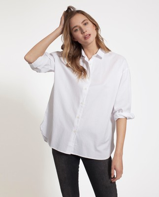 Edith Light Oxford Shirt, Bright White