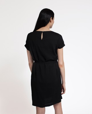 Kristina Solid Dress, Caviar Black