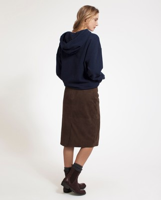 Lexi Suede Pencil Skirt