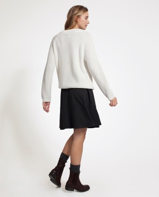 Helen Jersey Skirt, Heather Gray