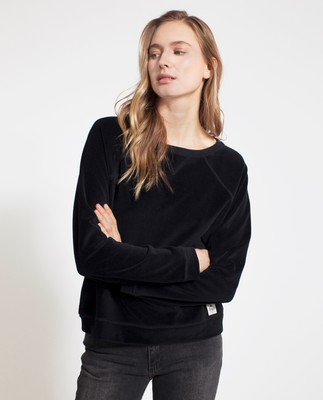 Martha Velour Sweater, Caviar Black