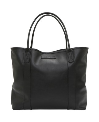 Mayflower Leather Tote Bag, Caviar Black