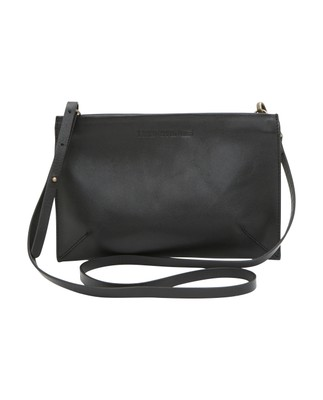 Wingfield Leather Zip Bag, Caviar Black