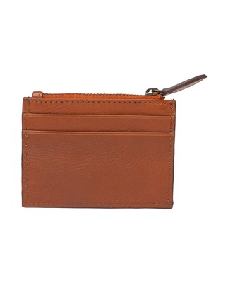 Cove Leather Card Holder, Light Cognac