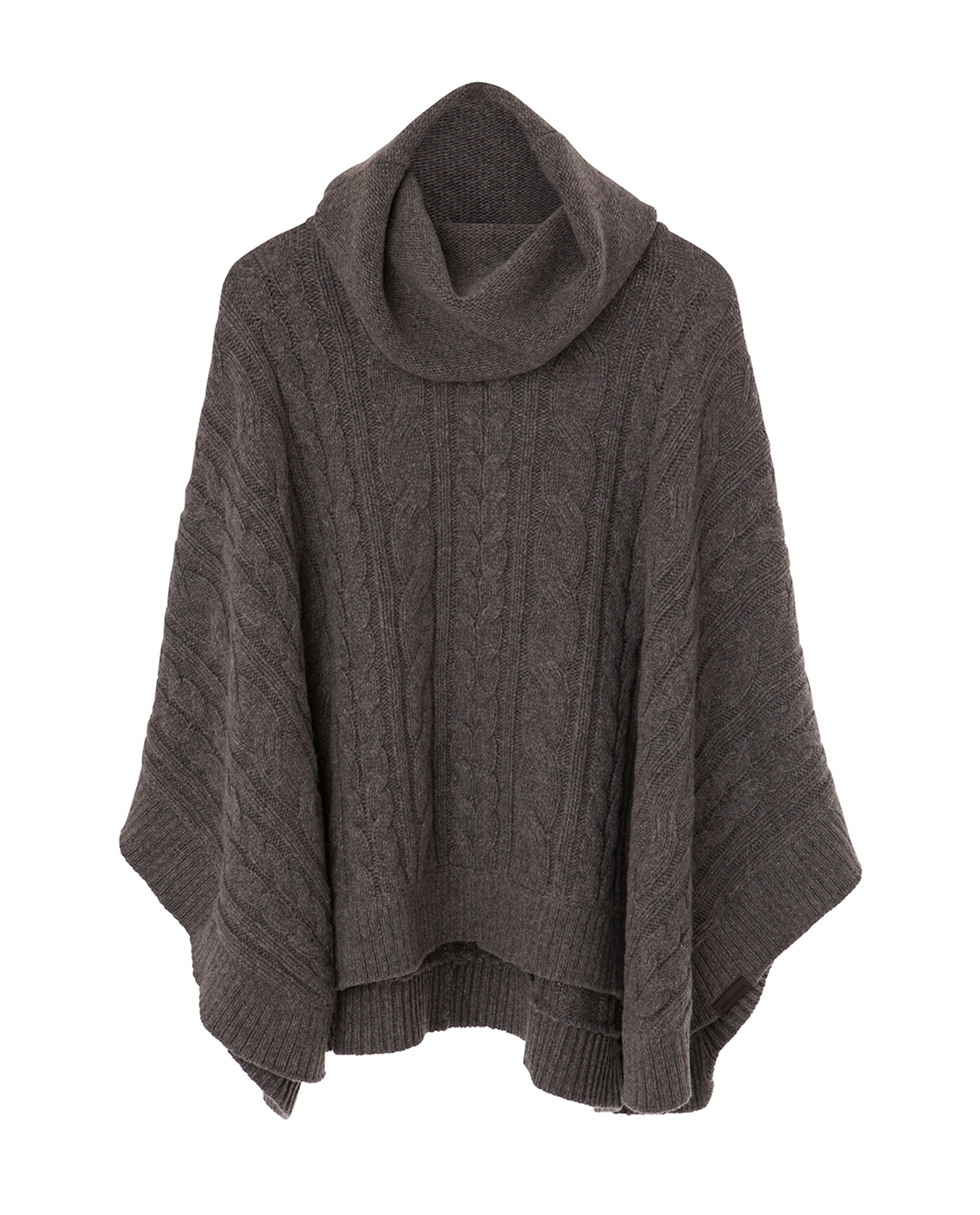 Laurel Knitted Poncho, Brown