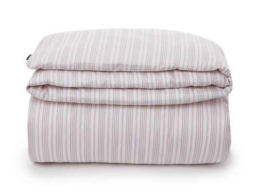 Pink Striped Sateen Flat Sheet