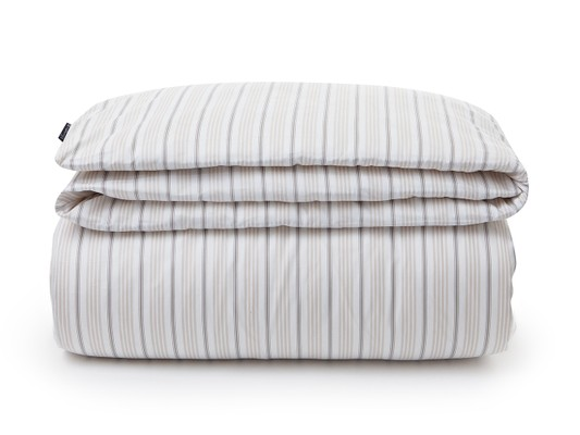 Beige Striped Sateen Duvet