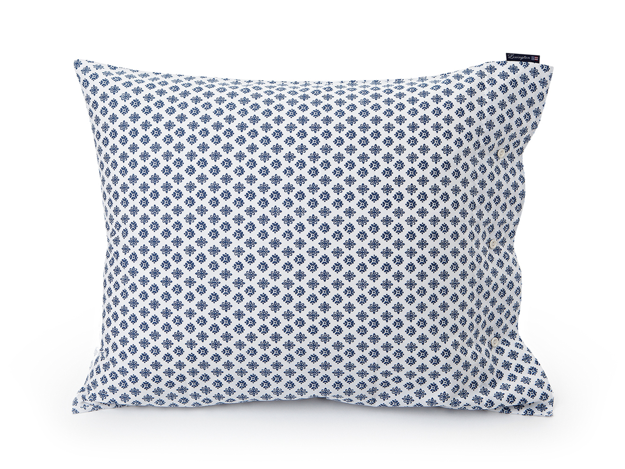 Blue Printed Sateen Pillowcase