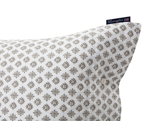 Beige Printed Sateen Pillowcase