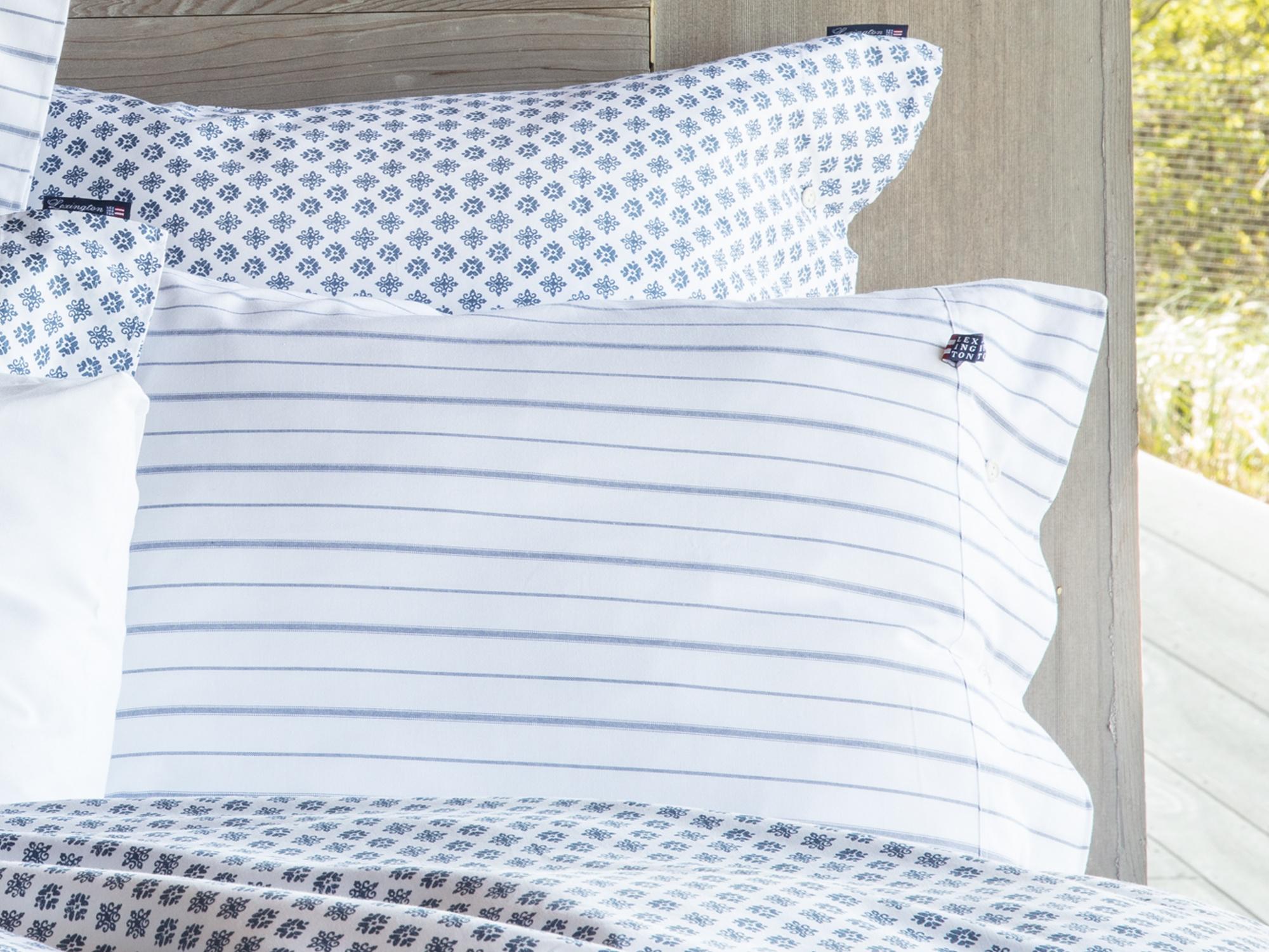 White/Blue Pin Point Pillowcase