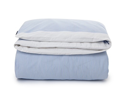 Blue/White Poplin Striped Duvet