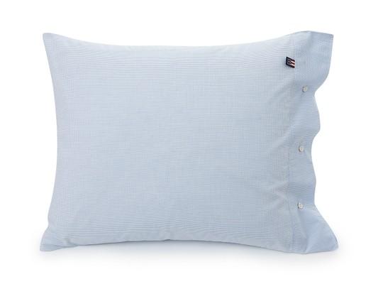 Blue Minicheck Poplin Pillowcase