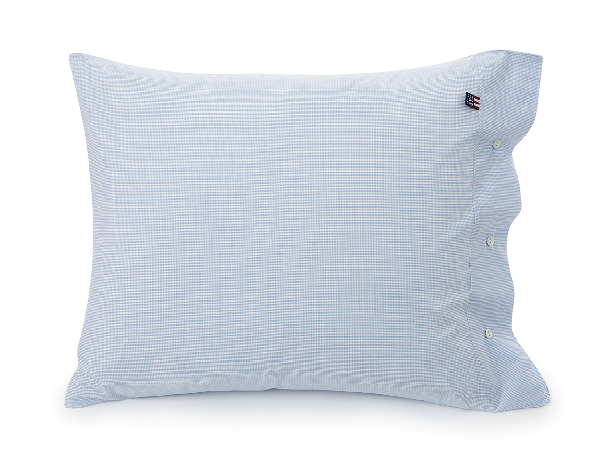 Blue Minicheck Poplin Pillowcase