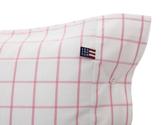 Pink Pin Point Shaker Check Pillowcase