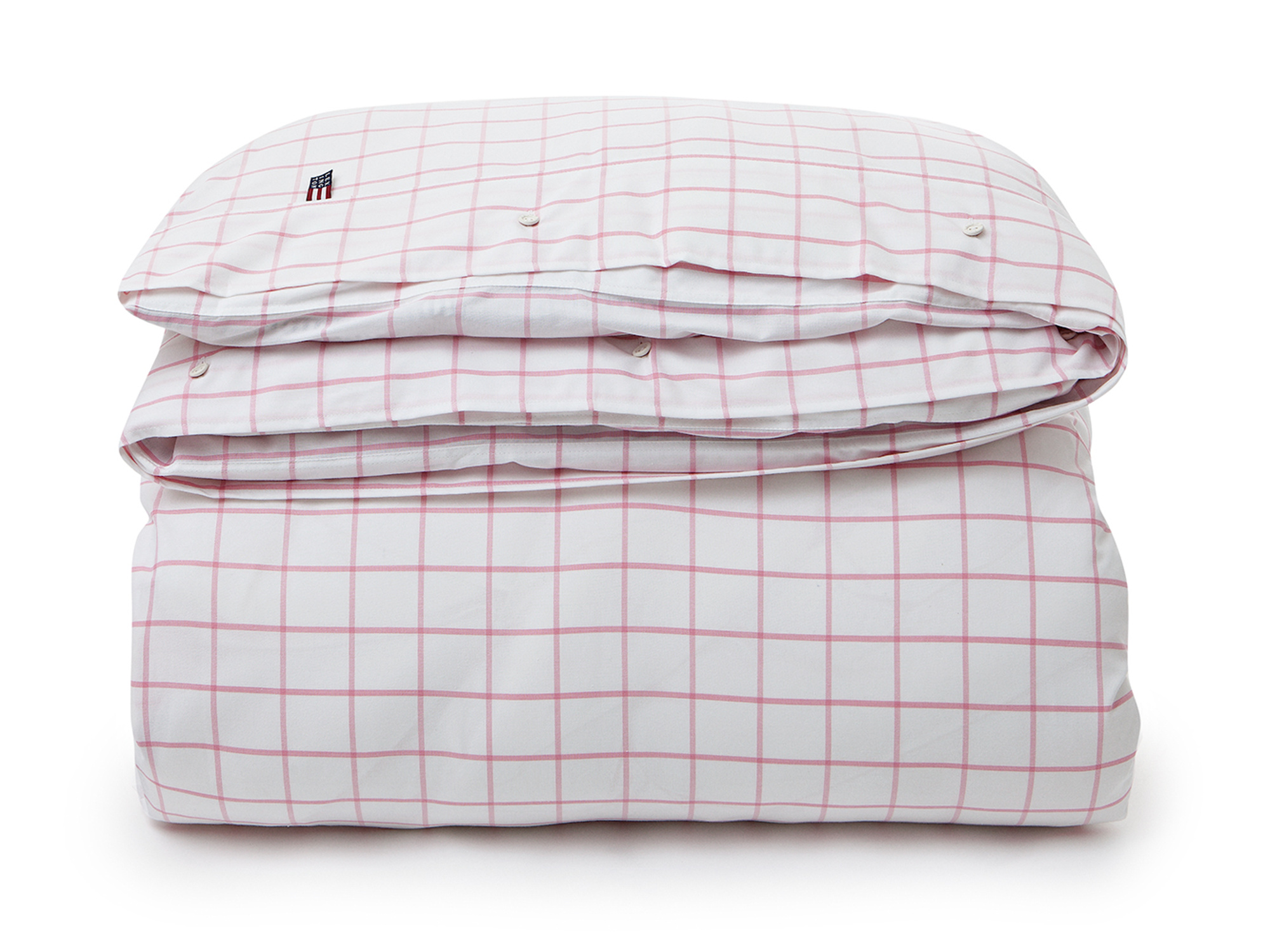 Pink Pin Point Shaker Check Duvet