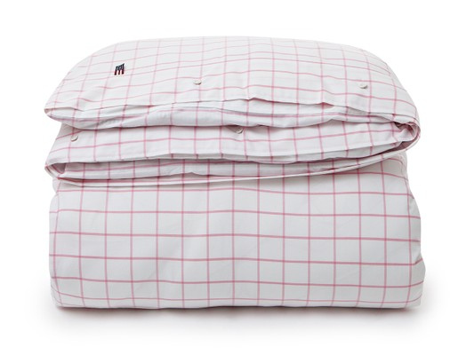 Pin Point Shaker Check Pink Flat Sheet