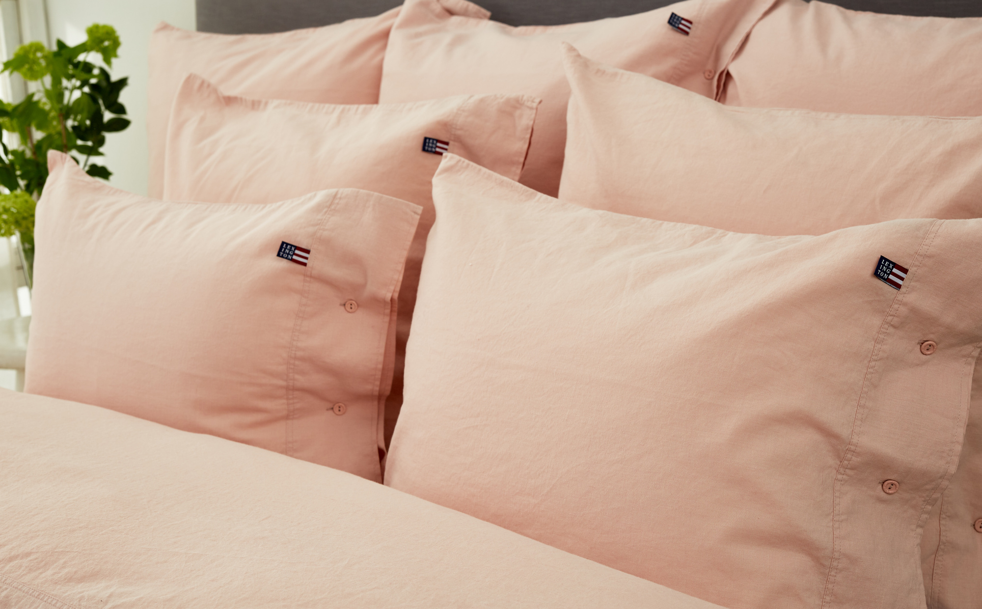 Icons Washed Cotton Linen Pink Pillowcase