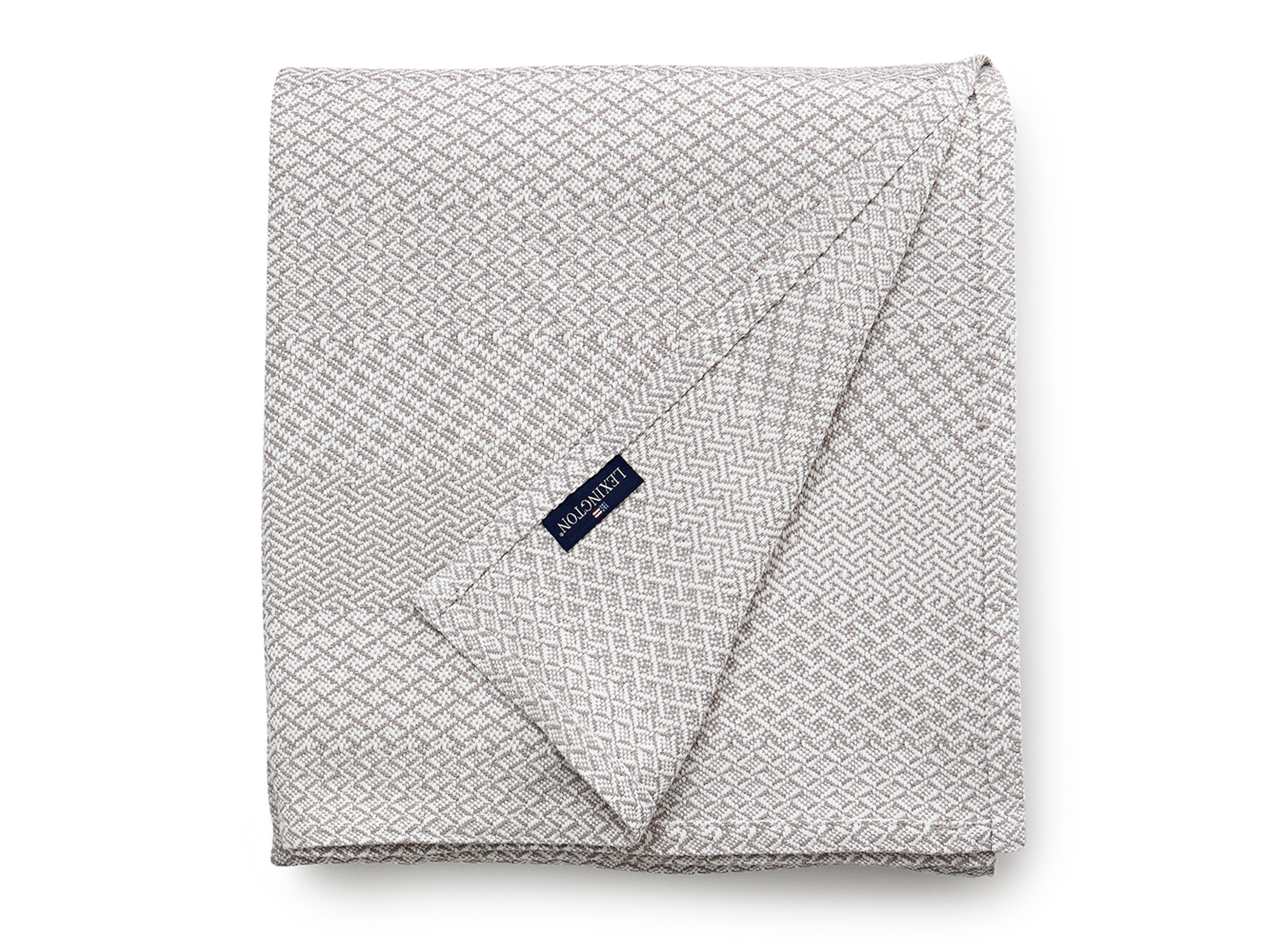 Structured Cotton Bedspread, Beige
