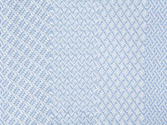 Structured Cotton Bedspread, Light Blue