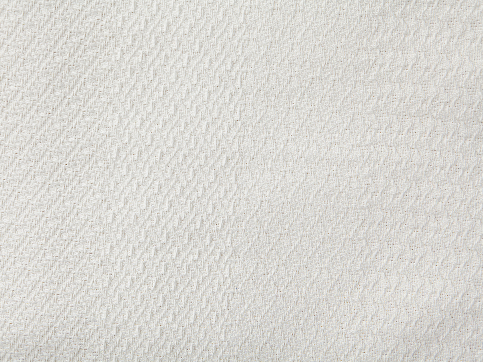 Structured Cotton Bedspread, White