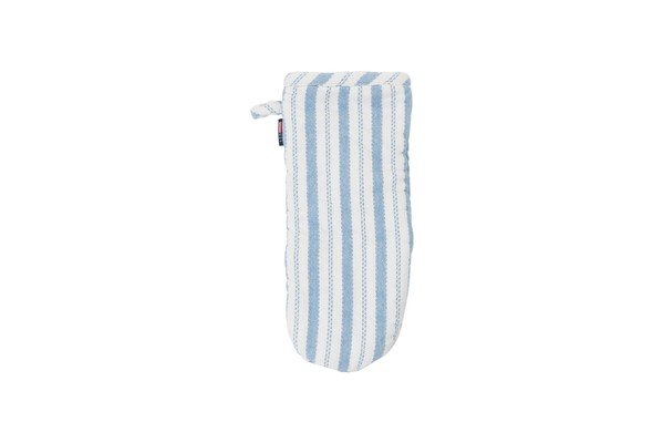 Striped Mitten, White/Blue