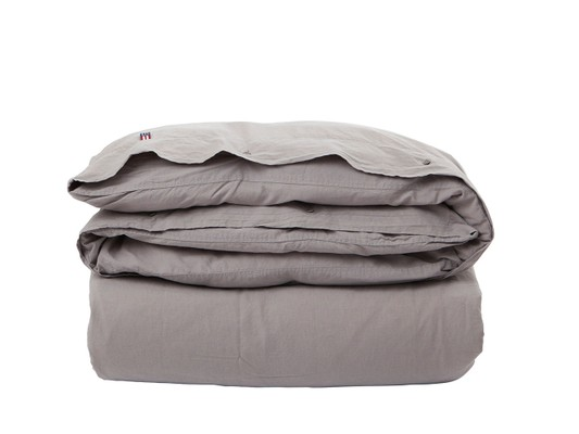 Icons Washed Cotton Linen Gray Duvet