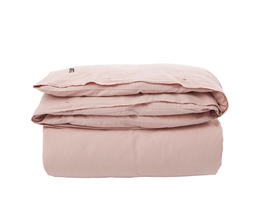Icons Washed Cotton Linen Pink Duvet