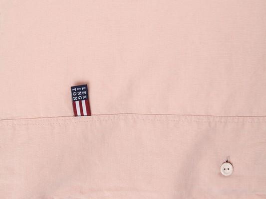 Washed Cotton Linen Pink Duvet