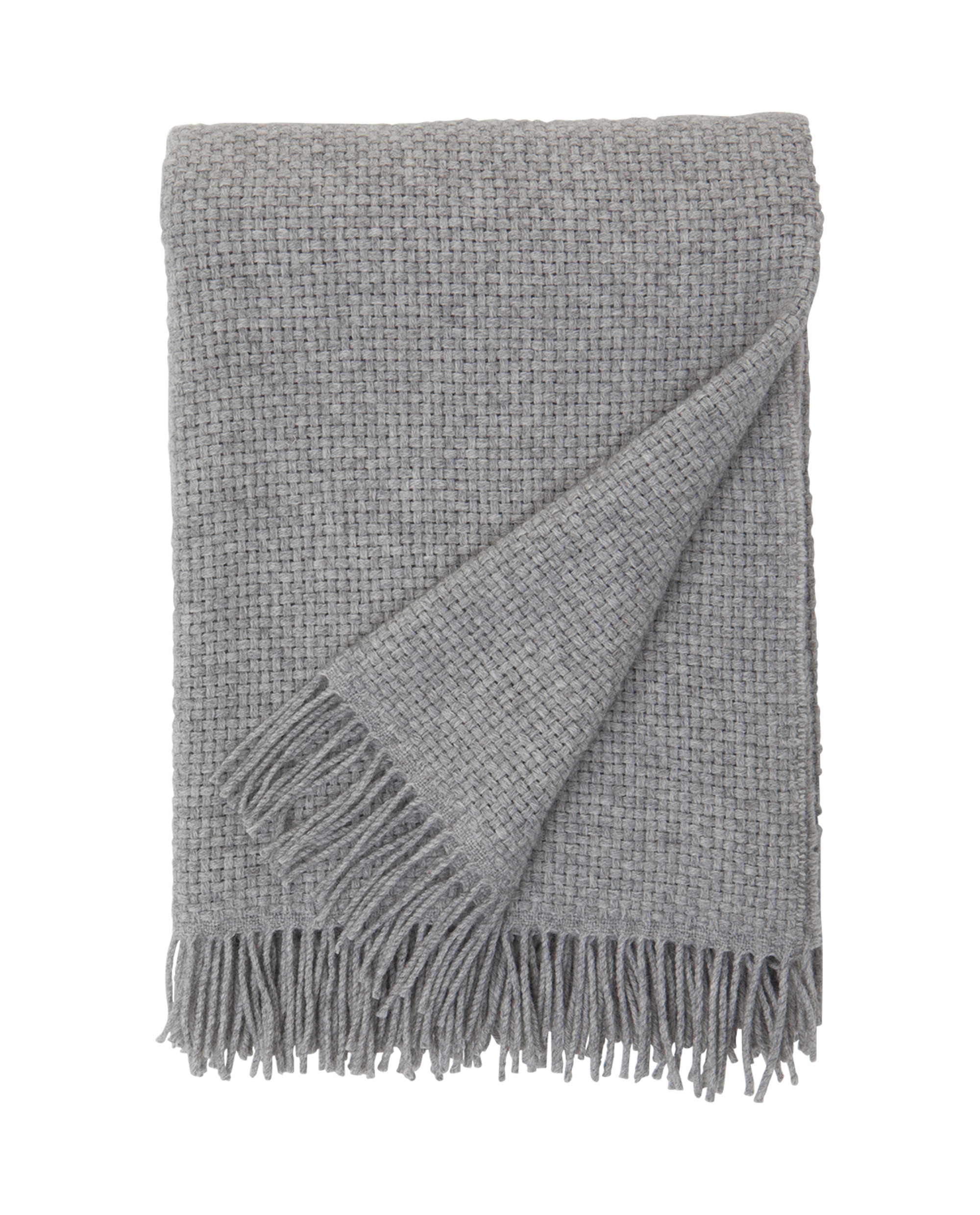Holiday Basket Throw, Gray