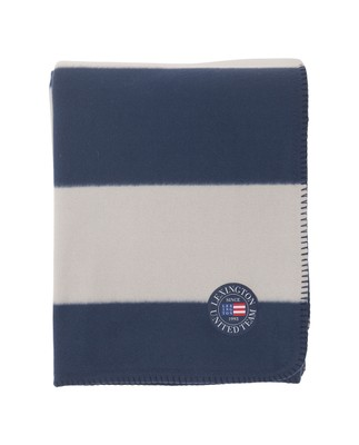 Holiday Fleece Throw, Blue/White
