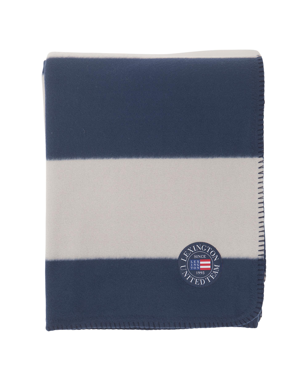 Holiday Fleece Throw, Blue/White