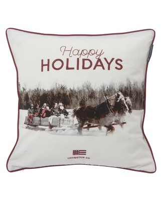 Photoprint Horse Sham, White Multi